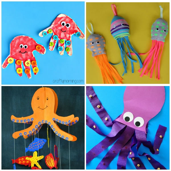 12 Outstanding Octopus Crafts For Kids I Heart Crafty Things