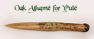 oak Athame for Yule from Moonscrafts