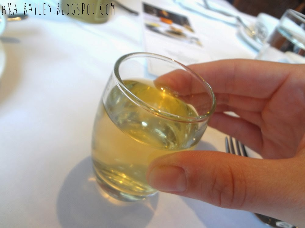 Small glass of jasmine tea