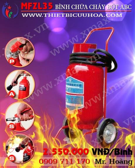 Bình chữa cháy bột khô tổng hợp abc mfzl35