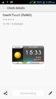 pilihan widget jam di xiaomi