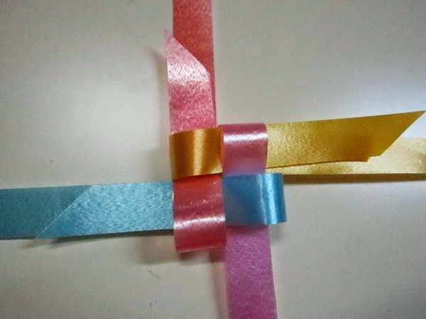diy fold weave rose ribbon decoration