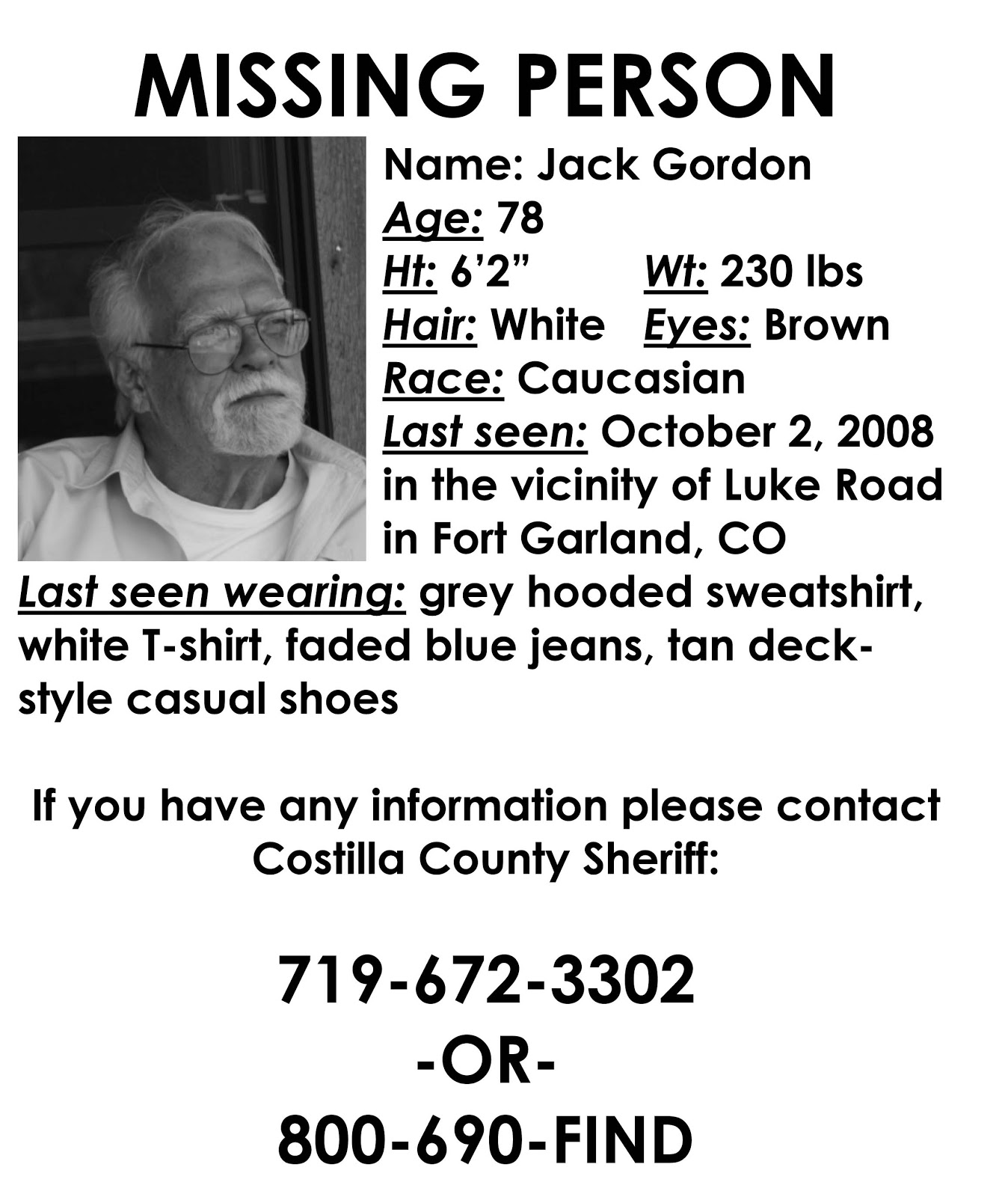 The Curious Disappearance of Seamus Muldoon DO MISSING PERSONS – Missing Person Poster Template
