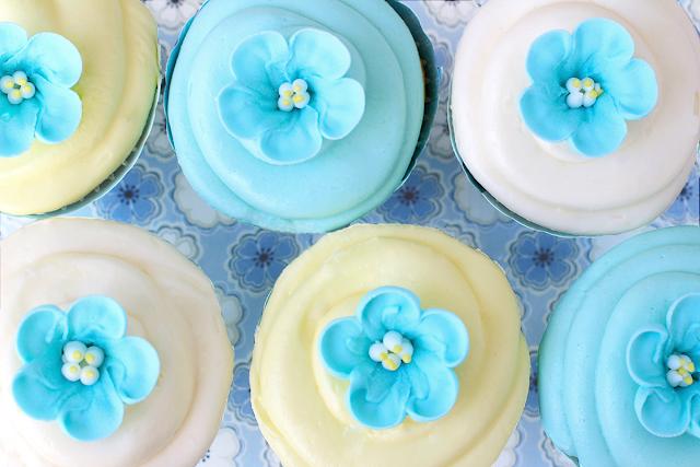 Cupcakes con flores