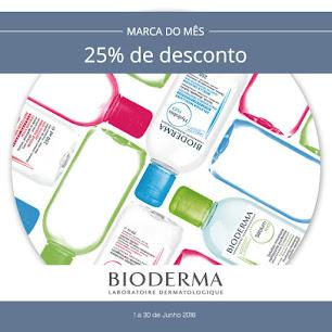 Em Junho todos os produtos Bioderma com 25% de desconto!