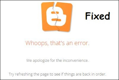 Whoops, that's an error | Blogger Layout Error bX-7o92p6