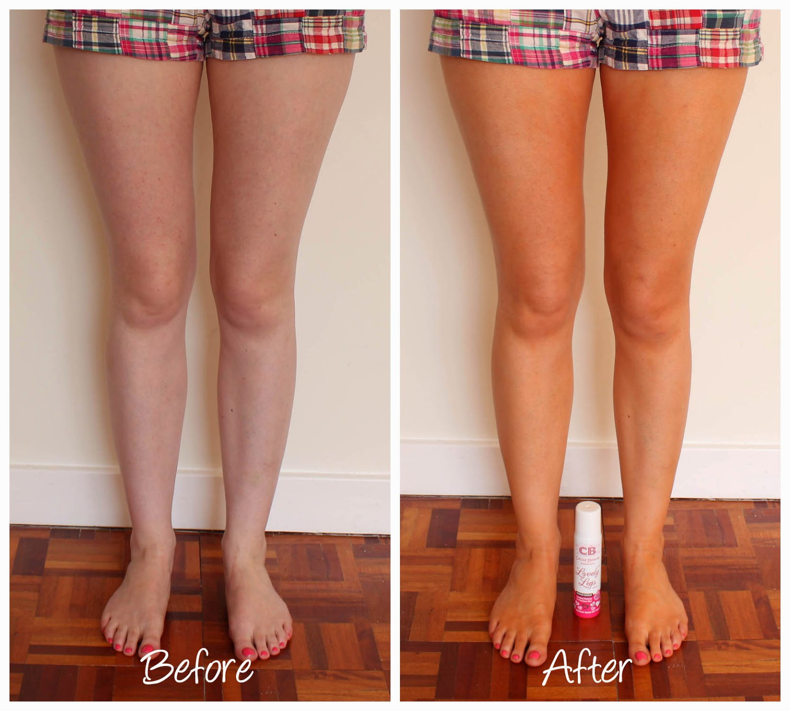 Cocoa Brown Lovely Legs Before and After Review