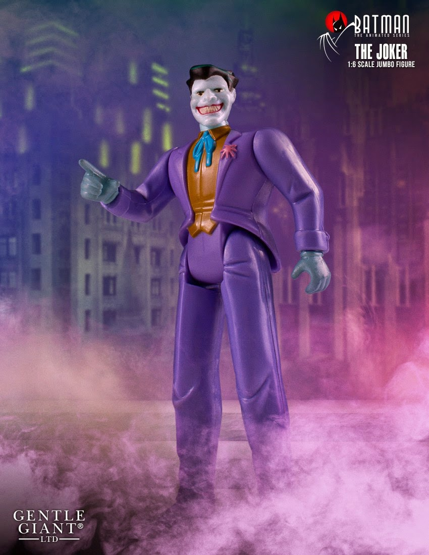 "The Joker Batman: The Animated Series 12"" Jumbo Vintage Action Figure by DC Comics x Gentle Giant"