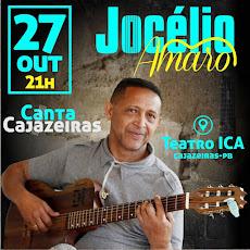 Teatro Ica: Jocélio Amaro faz show em Cajazeiras no dia 27 de outubro