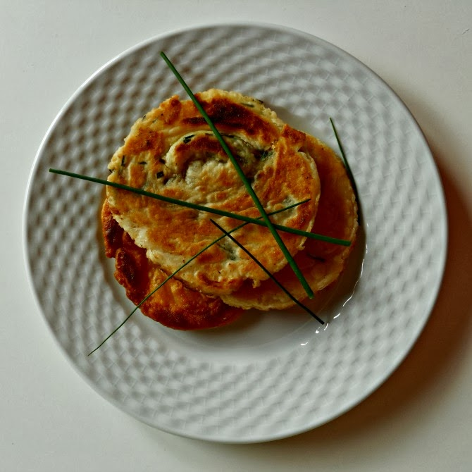 frittelle cinesi - chinese chives pancakes