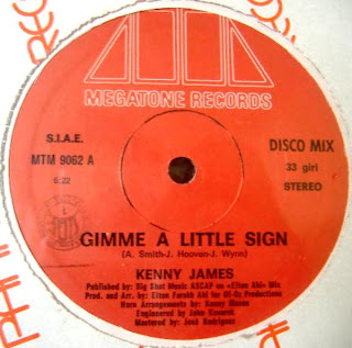 Kenny James - Gimme A Little Sign 1983 12 Inch