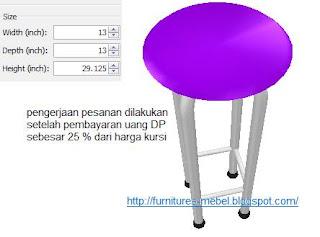 mebel kursi kafe bar ukuran dan harga