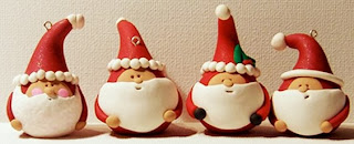 polymer clay santa ornaments