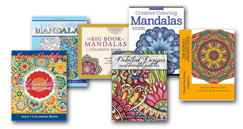 Mandala Happiness Coloring Books