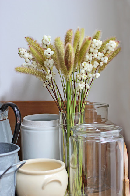 White Snowberries and Foxtail Millet