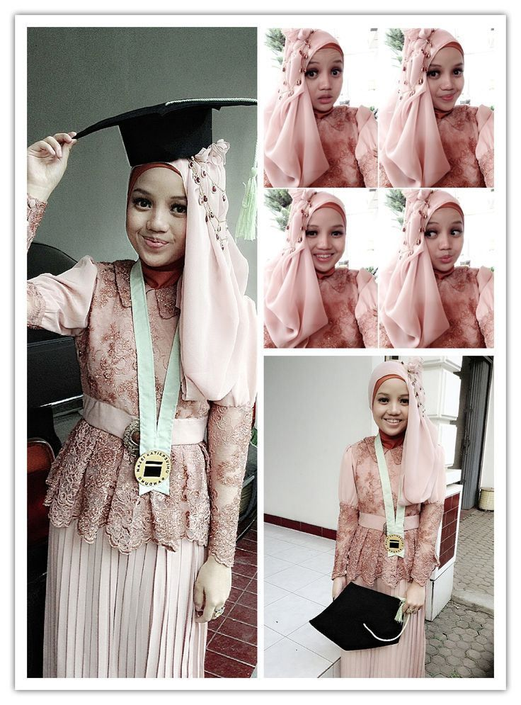 Model Kebaya Wisuda Sekolah Warna Pink