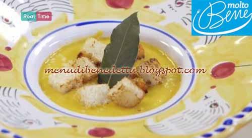 Vellutata di zucca con crostini ricetta Parodi per Molto Bene