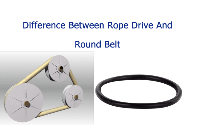 Rope Pulley Drive : Difference between rope drive and round belt mecholic
