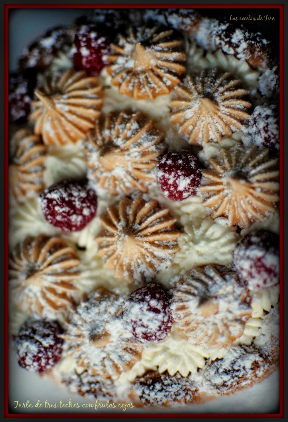 Tarta de tres leches con frutos rojos 06