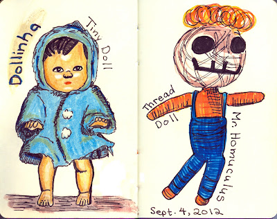 Tiny Dolls - Watercolour and Ink by Ana Tirolese ©2012