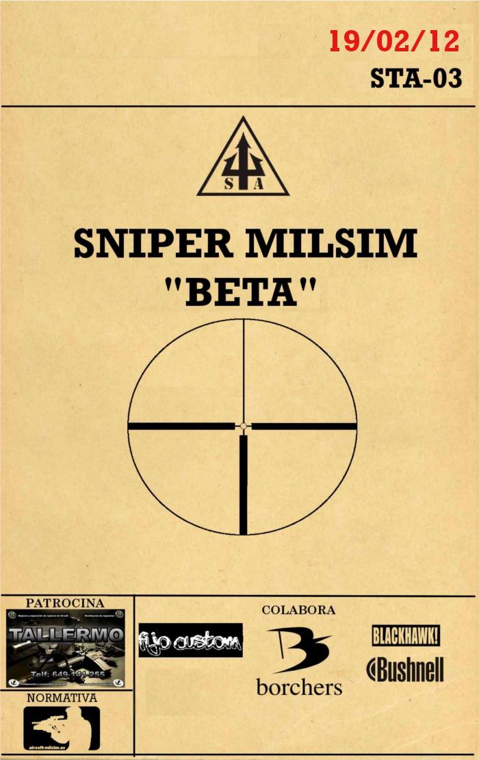 """SNIPER MILSIM """"ALFA"""" / """"BETA"""" 18 y 19 de Febrero SNIPERBETAX"""