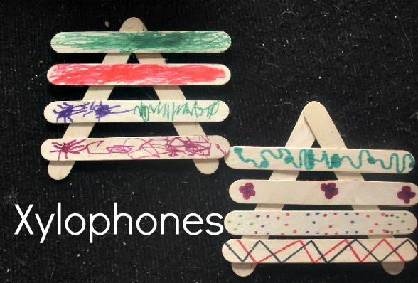 noisy music popsicle stick xylophones