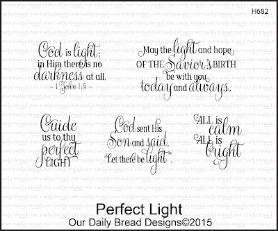 Our Daily Bread Designs Perfect Light Stamp set
