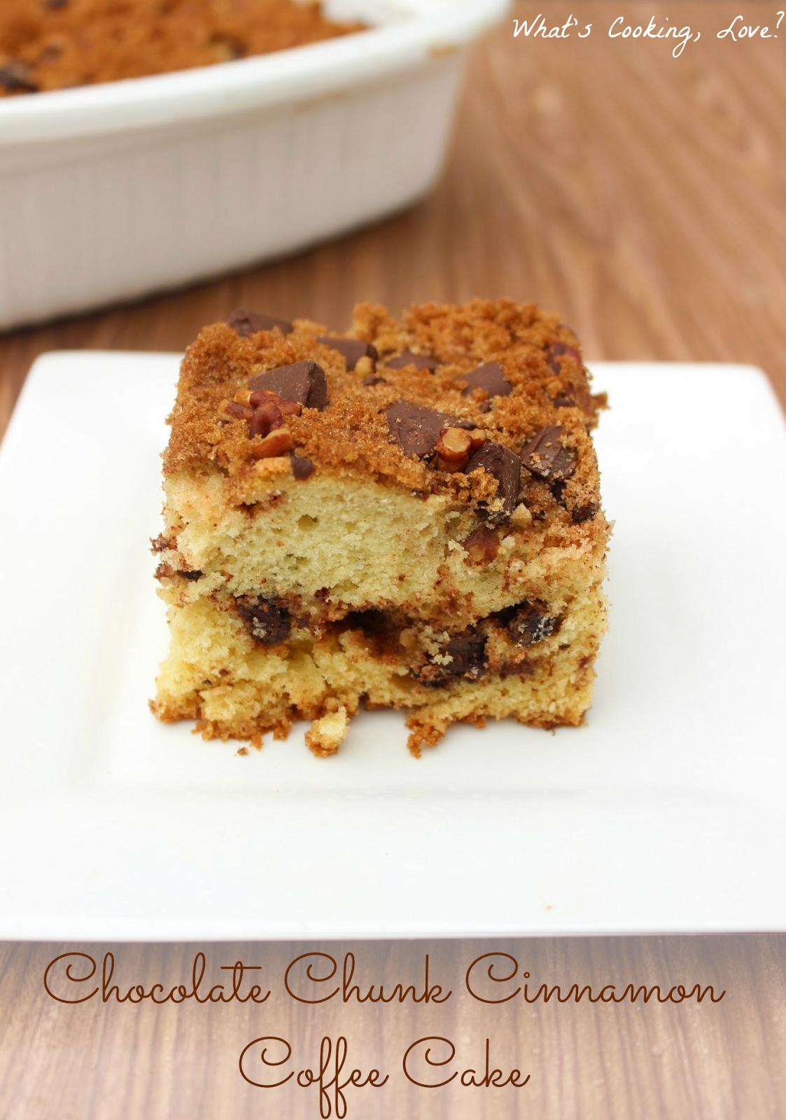 Chocolate Chunk Cinnamon Coffee Cake