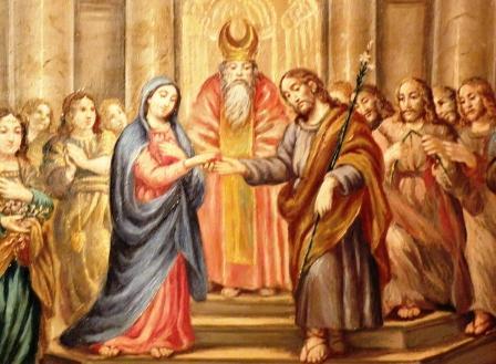 Rafael - Los desposorios de la Virgen 1504, - El