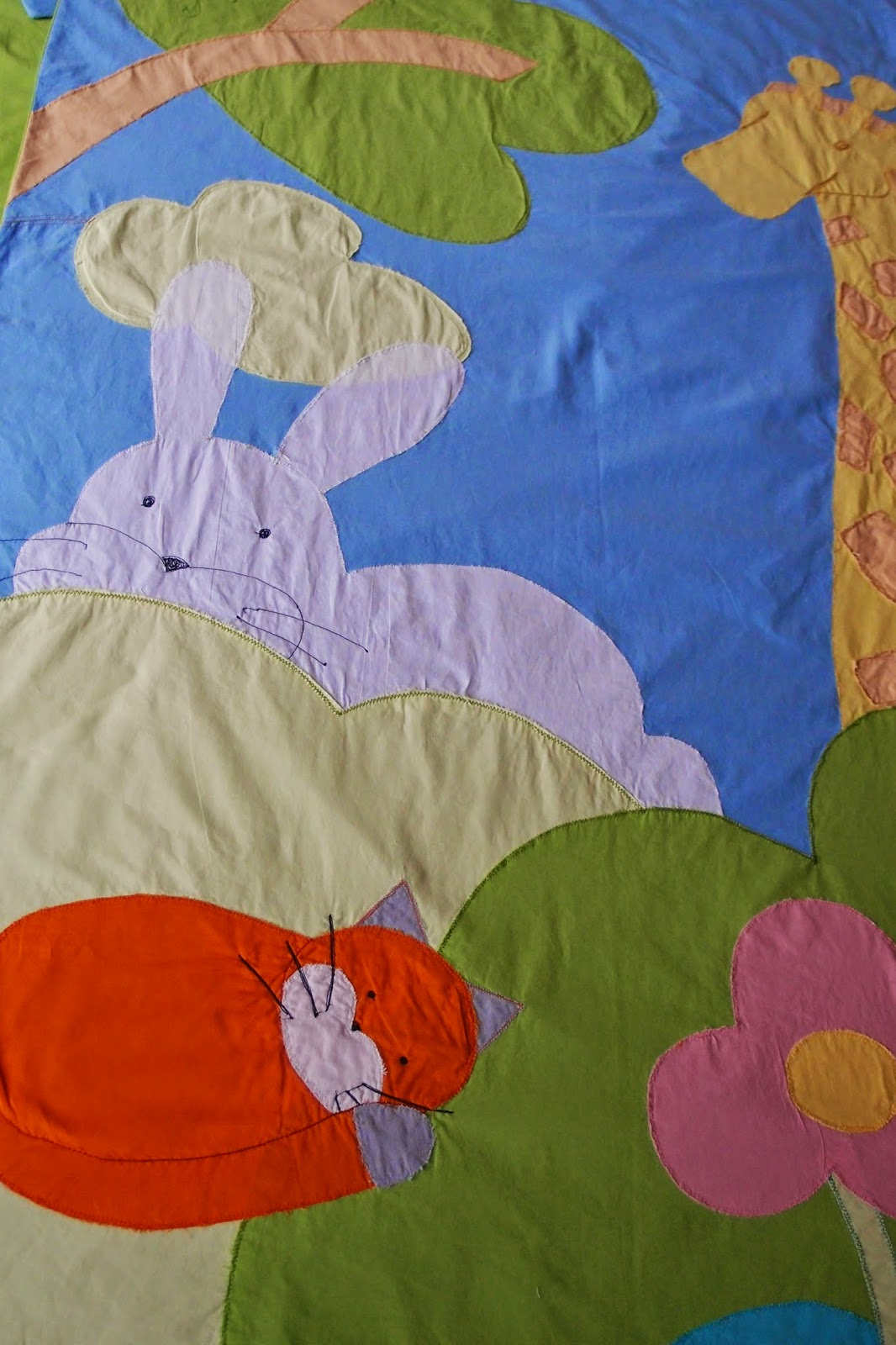 Big Rabbit Duvet Cover Close up