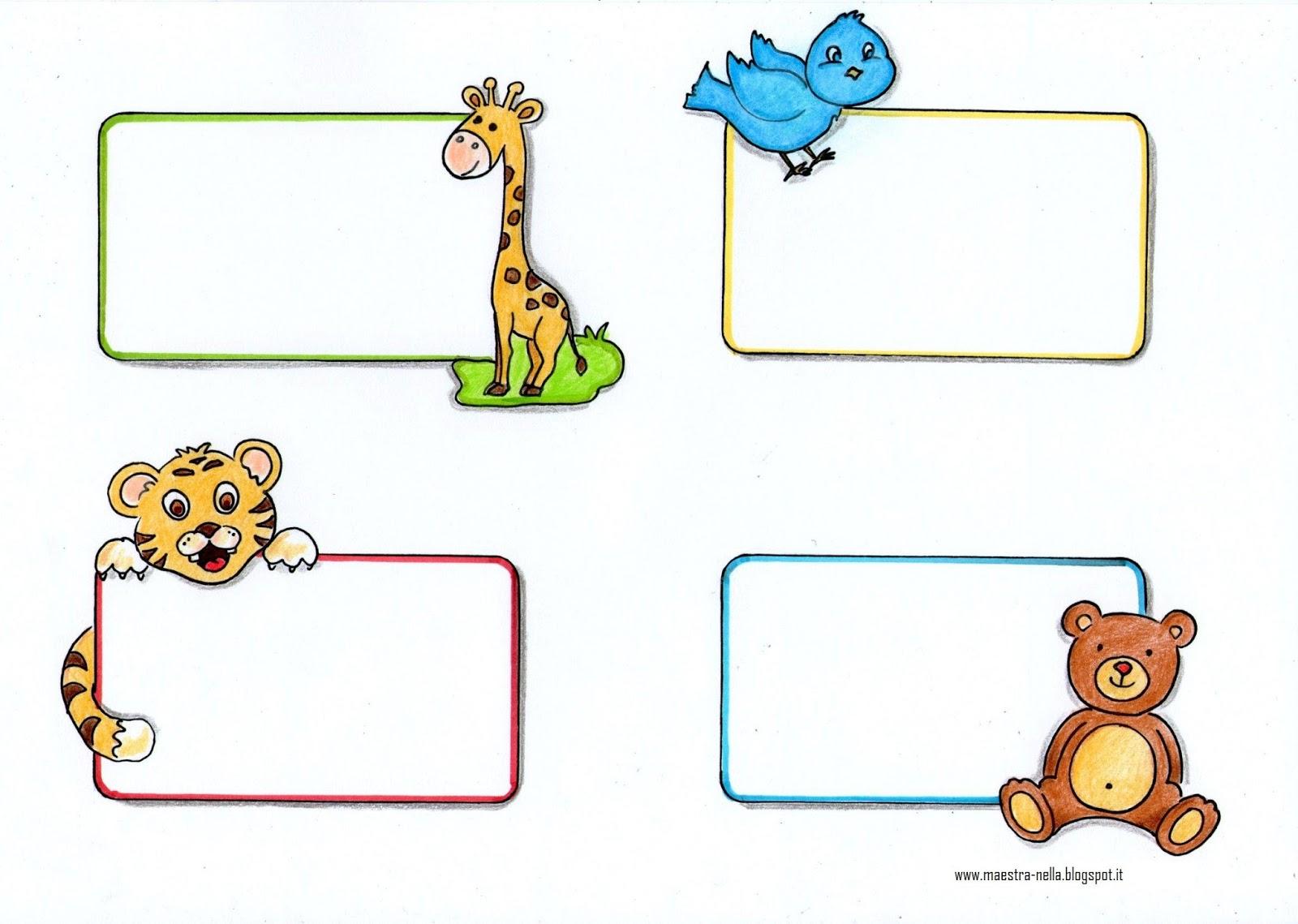 Maestra nella segnaposto o etichette - Libri di scuola materna stampabili gratuitamente ...