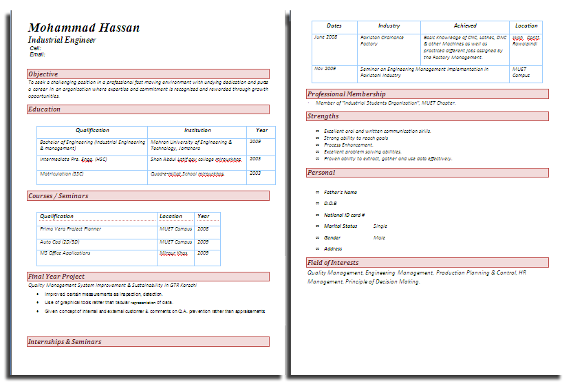 cv formats notes cv format new cv format latest cv formats