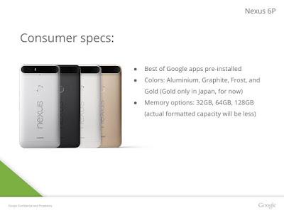 تسريب مواصفات هاتف NEXUS 6P