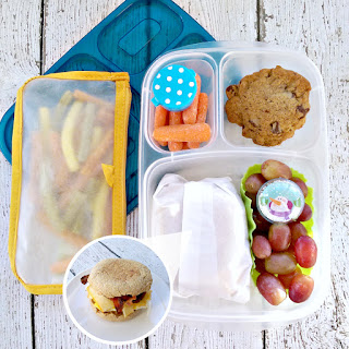 My Epicurean Adventures: Lunch Box Fun 2015-16: Week #16 - Egg Muffin Lunch. Lunch box ideas, school lunch ideas, lunches