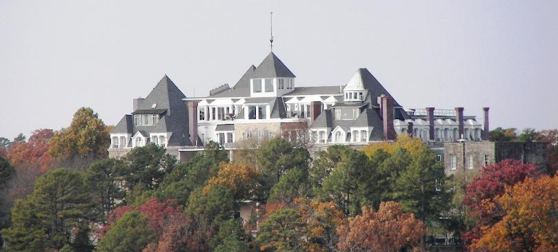 The Spectacular Crescent Hotel In Eureka Springs Arkansas Stands Out On Mountain Side