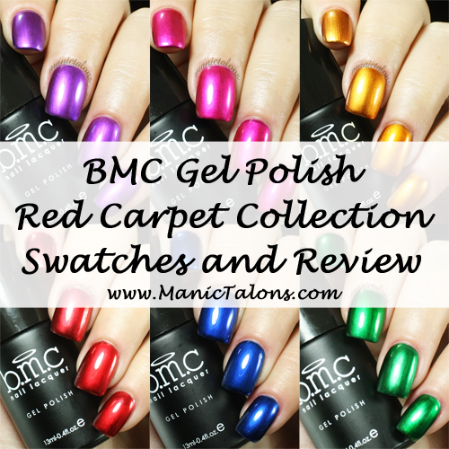 Bundle Monster Red Carpet Collection Metallic Gel Polish Review