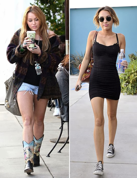 Before And After Of Miley Cyrus Caution A Paleo Diet May Cause Twerking