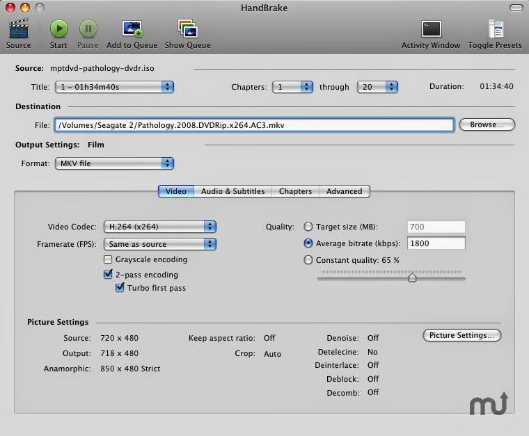 برنامج handbrake 2014 لتحويل صيغ الفيديوهات