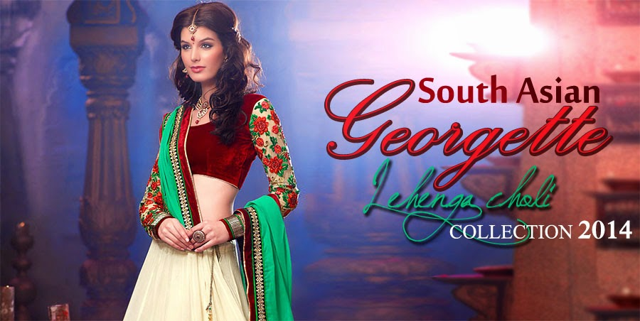 South Asian Georgette Lehenga Choli Collection 2014 Indian Party