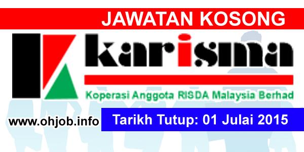 Jawatan Kerja Kosong Koperasi Anggota RISDA Malaysia (KARISMA) logo www.ohjob.info julai 2015