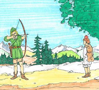 Willhelm Tell arrow apple мишень