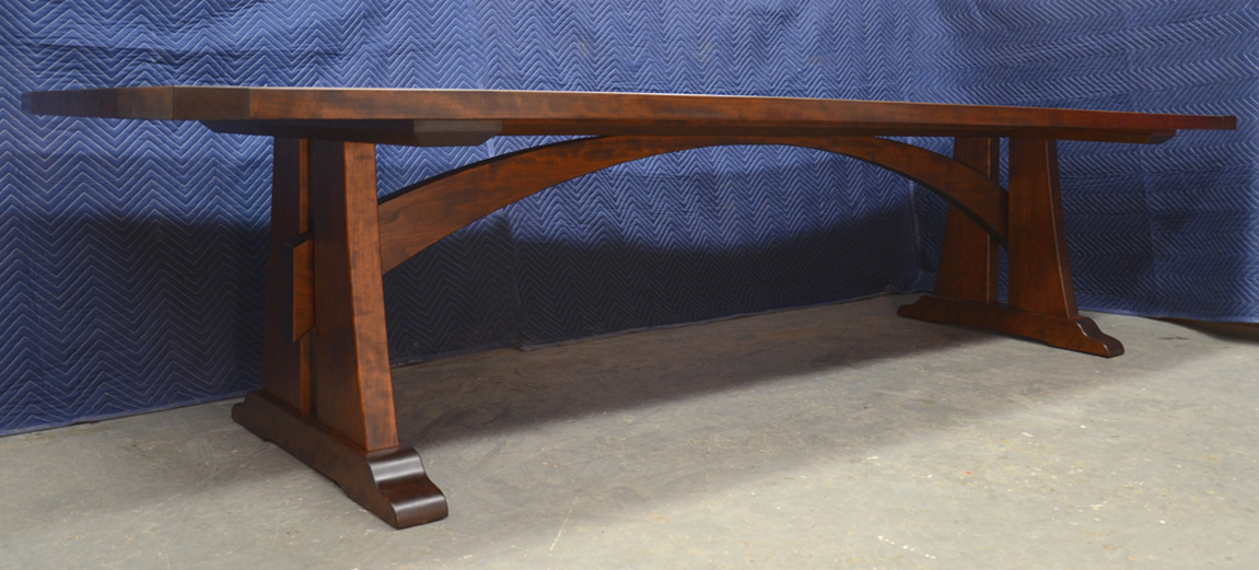 Dorset Custom Furniture A Woodworkers Photo Journal A Custom Cherry Trestle Table