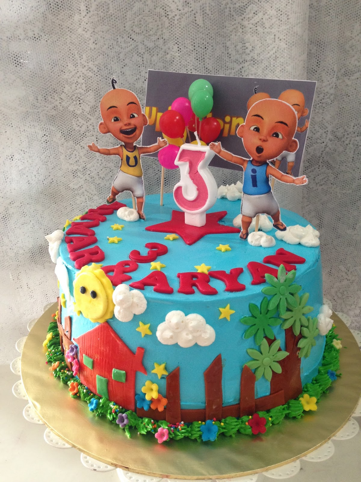 ninie cakes house Upin Ipin Birthday Cakes Theme