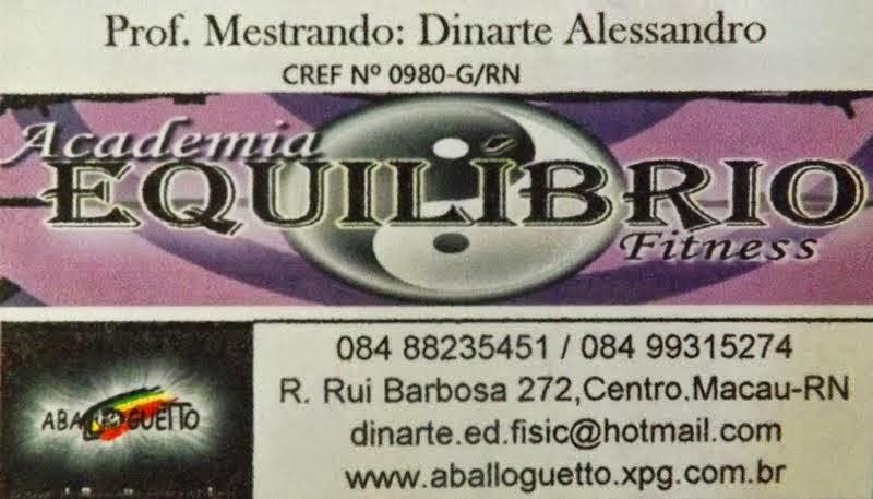 ACADEMIA EQUILIBRIO - CUIDANDO DO SEU CORPO