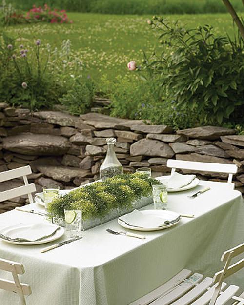 Mobiliario para una cena de verano