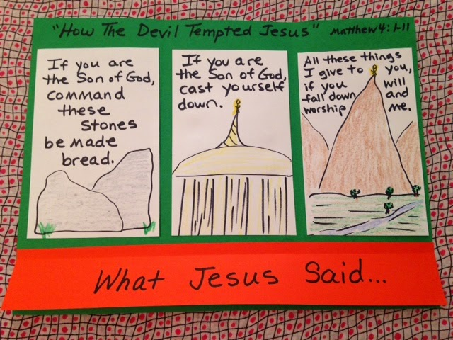 Childrens Bible Lessons Lesson The Temptation Of Jesus