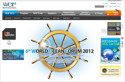 World Ocean Forum 2012 next week!