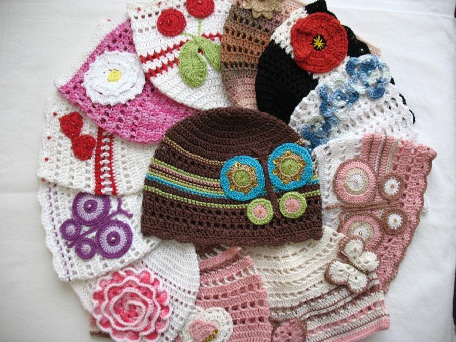 Croche Madona-mía puntos y graficos: Modelos de sombreros para niñas ...