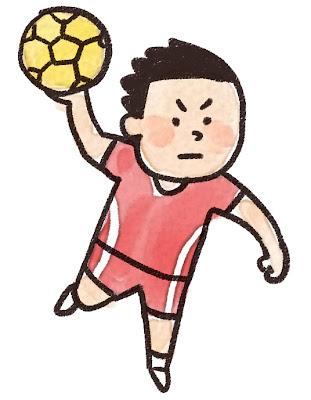 ハンドボール選手のイラスト(スポーツ)
