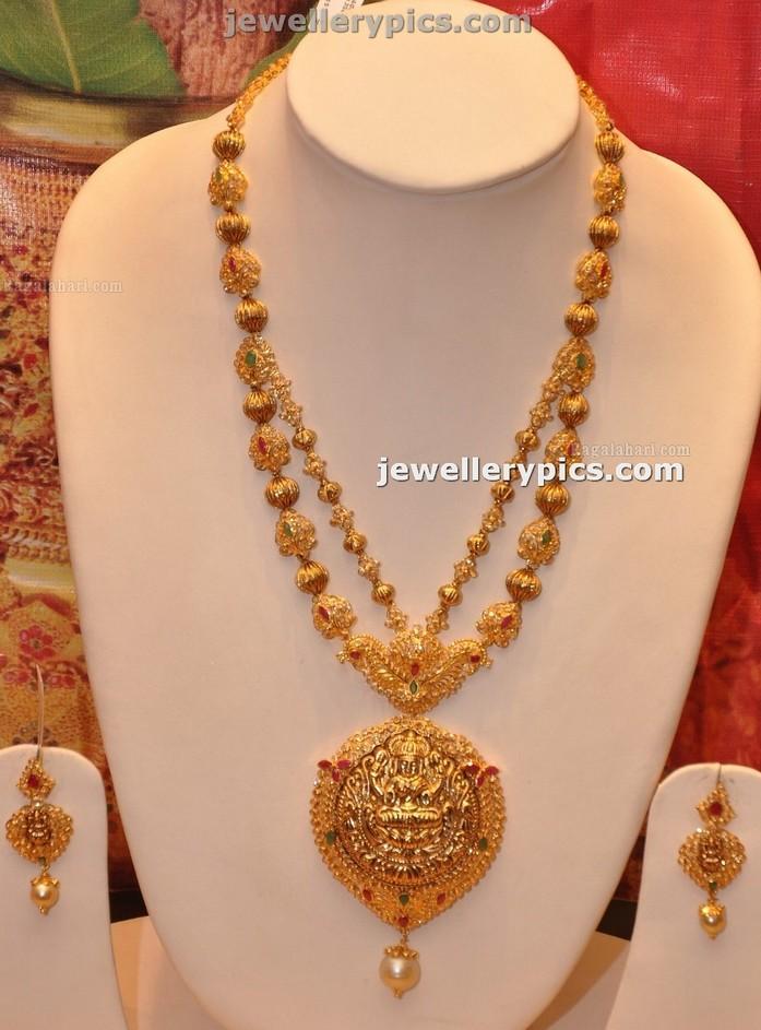 Latest Gold Haram with Lakshmi Devi Locket by Manepalli hyderabad ...